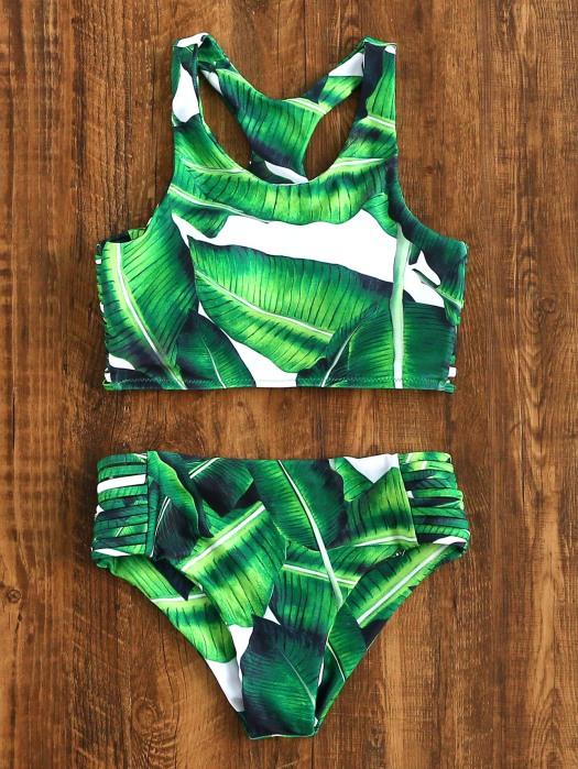 romwe-swimsuit-leaves