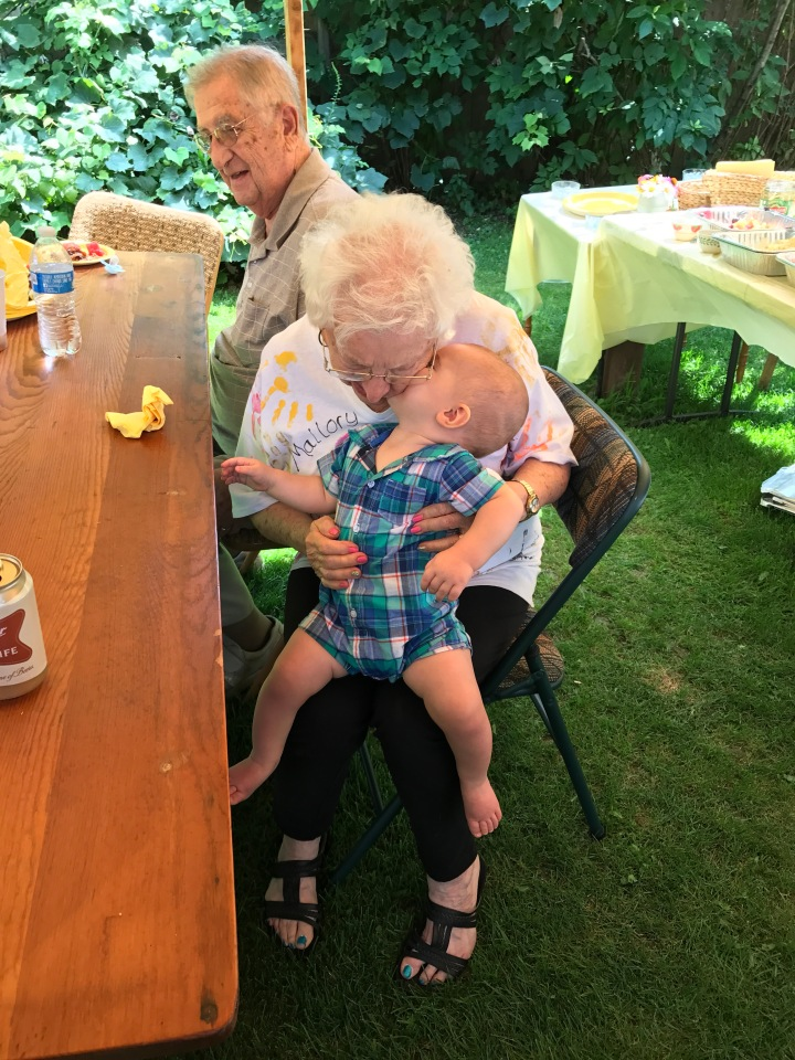 Emerson Kissing Grandma