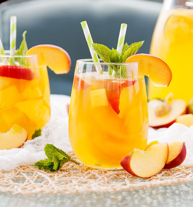 Vacation Drink Of The Day: Peach Mango Summer Sangria