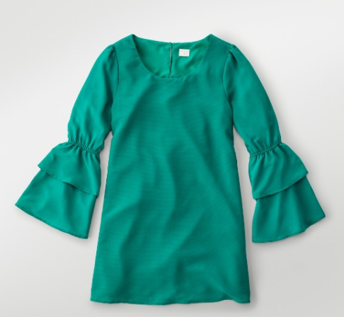a-new-day-green-bell-sleeves-dress