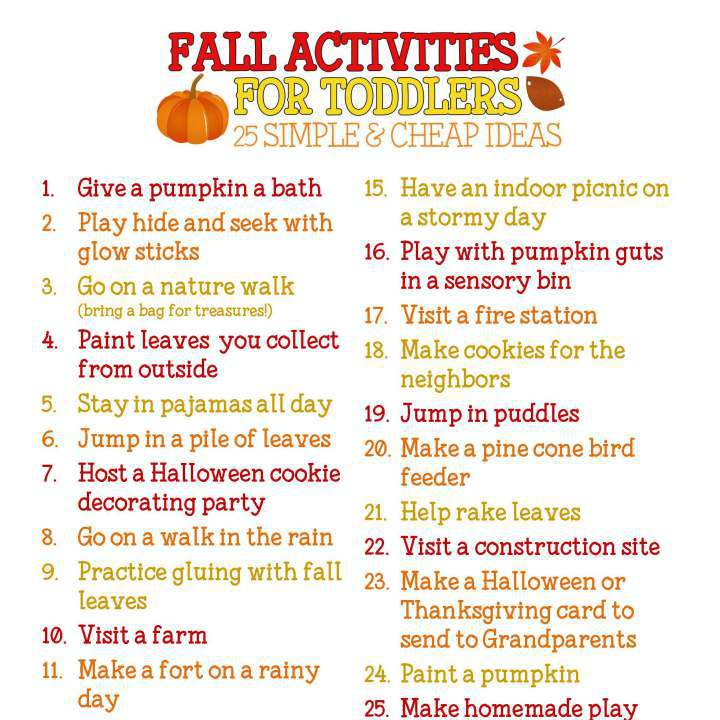 The Mast House Fall Bucket List